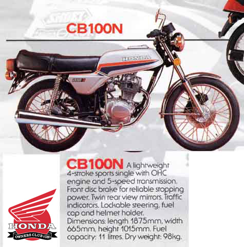 The Honda CB 100 N NA At MotorBikeSpecs Motorcycle