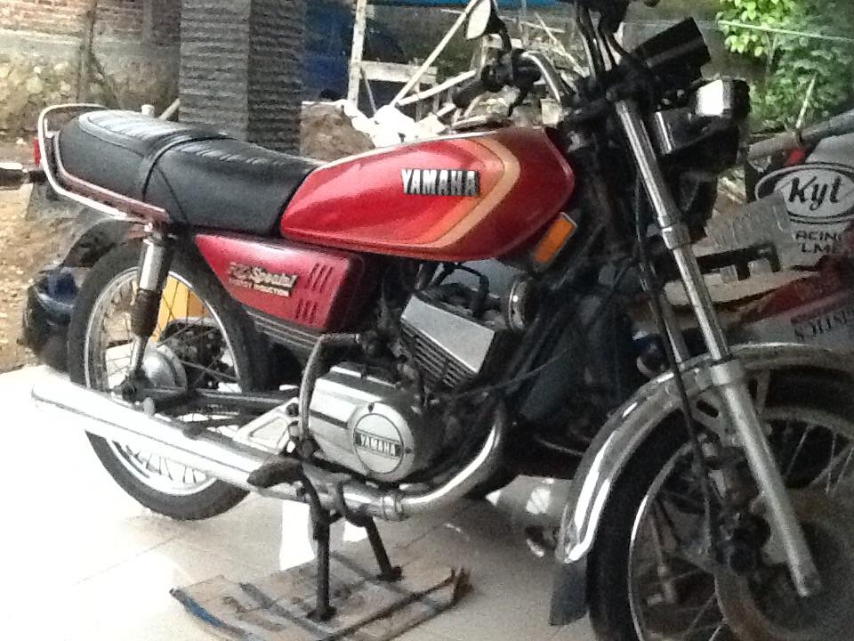 the yamaha 115 at the motorcycle