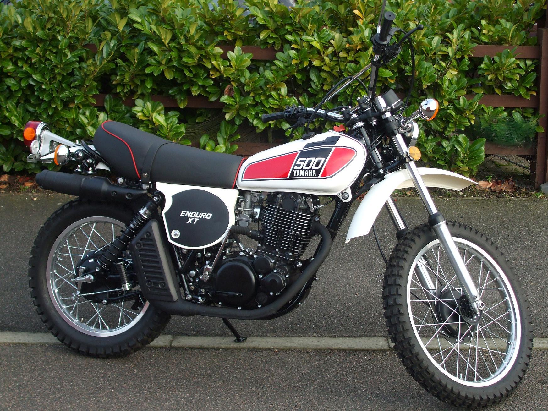 The yamaha 500 at the motorcycle for Yamaha xt500 motorcycle